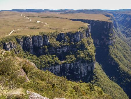 Beautiful landscape of Fortaleza Canyon and green rainforest, Cambara do Sul, Rio Grande do Sul, Brazil