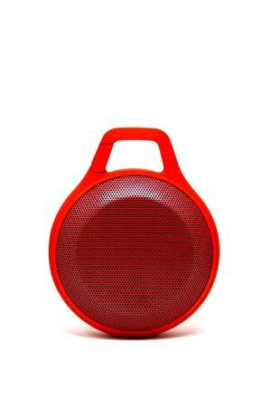 speaker: Red speaker on white background.