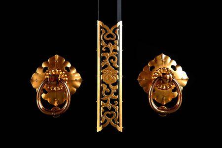 door knobs: Japanese door knobs. Stock Photo
