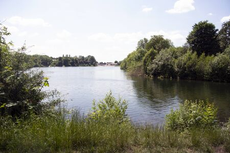 England – Manchester.  The lakes at the suburb of Gorton's, Debdale Park on a summers day.