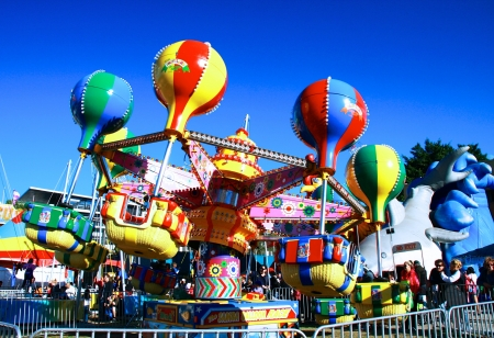 themes: Fun time for kids at Ekka carnival, Queensland Australia Editorial