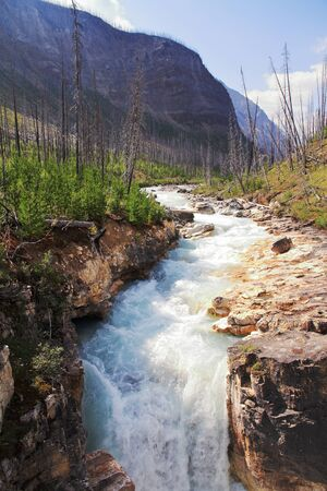 Waterfall in Marble Canyon - BC - Canada