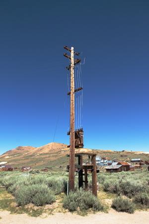 Telegraph pole - Bodie Ghost town - California