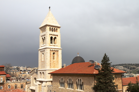Lutheran Church: Lutheran Church Of The Redeemer   Jerusalem   Israel Stock  Photo