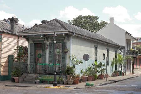 Piccola casa - New Orleans, LA - USA Archivio Fotografico - 75300403