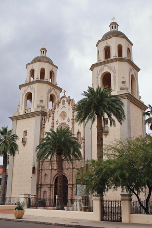 St. Augustine Cathedral Church - Tucson - USA Stock Photo