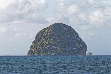 Diamond rock - Le Diamant - Martinique FWI Reklamní fotografie