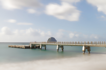 Le Diamant pier and diamond rock - Martinique FWI - Long exposure Imagens