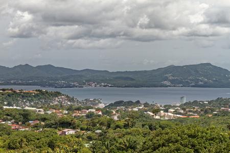 Martinique, FWI - Bay of Fort-de-France - View to Fort-de-France and Les Trois Ilets