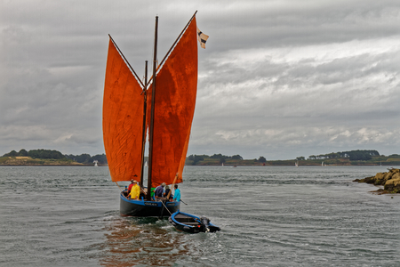 The Sinagot, traditional sailboat of the Gulf of Morbihan - Brittany, France
