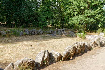 Manio quadrilateral alignment - Carnac stones - Brittany, France