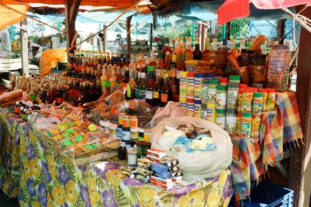 29 NOV 2018 - Fort-de-France, Martinique FWI - Typical creole market Editorial