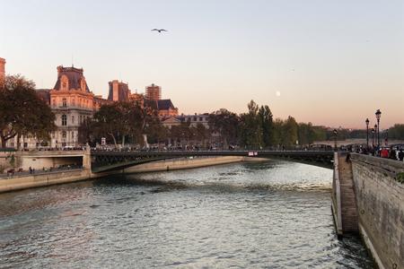 The Seine river and Paris cityhall - Paris, France Stock Photo