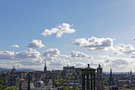 Edinburgh Castle view from Calton Hill - Edinburgh, Scotland, United Kingdom