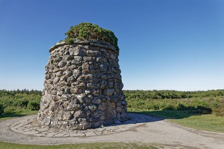 Tower in Culloden battlefield - Inverness, Scotland, UK