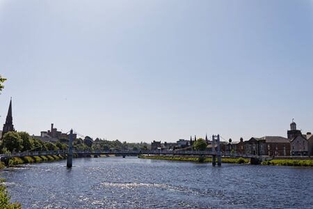 River Ness - Inverness, Highlands, Scotland, United Kingdom Stock Photo - 128197001