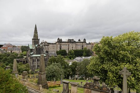 Glasgow Cathedral and Royal Infirmary- Glasgow, Scotland, UK