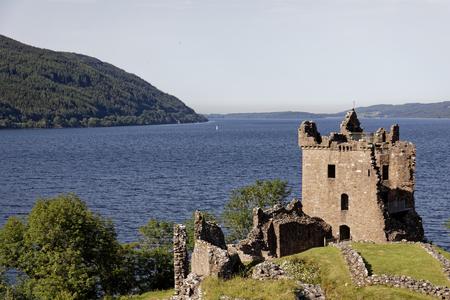 Urquhart Castle on Loch Ness - Strone, Inverness, Highlands, Scotland, United Kingdom