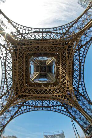 Paris, France - Eiffel tower made of iron