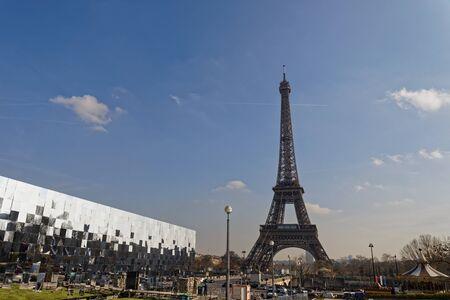 Paris, France - Mirrors near Eiffel Tower Zdjęcie Seryjne