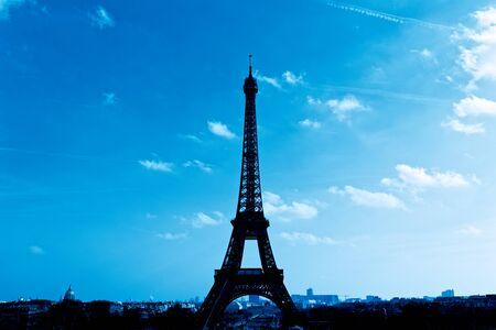 Paris, France - The Eiffel Tower silhouette Zdjęcie Seryjne