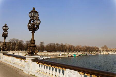 Paris, France - Alexandre III bridge Stock fotó