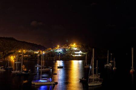 les Trois-Ilets, Martinique, FWI - Anse Mitan at night