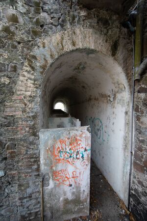 Latrine in an old small fort in La Pointe du Bout - Les Trois Ilets, Martinique, FWI