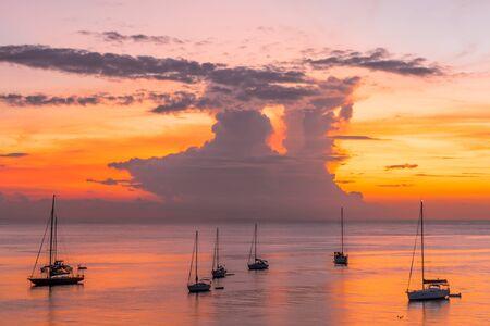 les Trois-Ilets, Martinique, FWI - Sunset in Anse Mitan