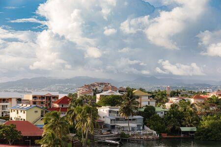 Les Trois-Ilets, Martinique, FWI - View to la Pointe du Bout Stock Photo