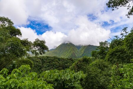 Martinique, FWI - Valley in Carbet Mountains Foto de archivo
