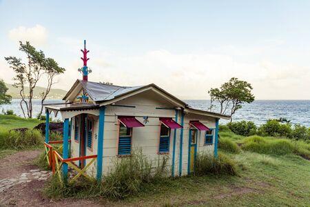 Le Diamant, Martinica, FWI - La casa del convicto (Maison du Bagnard) Foto de archivo