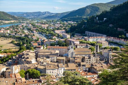 Sisteron, Alps, france - View to the city from the Citadel