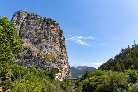 Castellane, Alps, France - The Chapel on The Rock