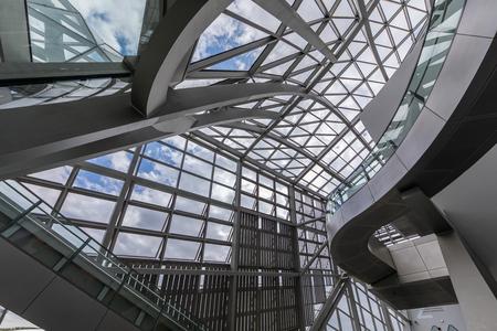 Lyon, France - The Confluences Museum interior Redakční