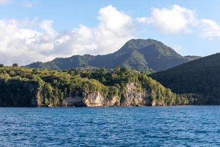 Saint Lucia, West Indies - Cliffs on the southwestern coast Foto de archivo