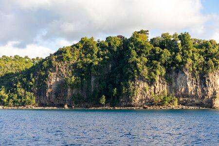 Saint Lucia, West Indies - Cliffs in the southwestern coast, near Marigot bay