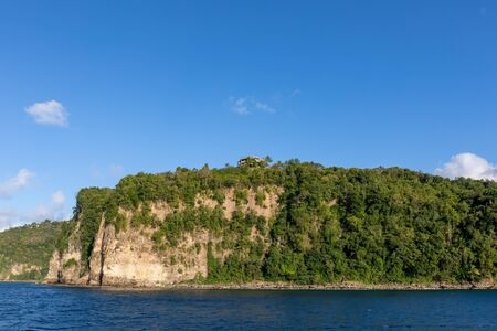 Saint Lucia, West Indies - Cliffs in the southwestern coast, near Marigot bay