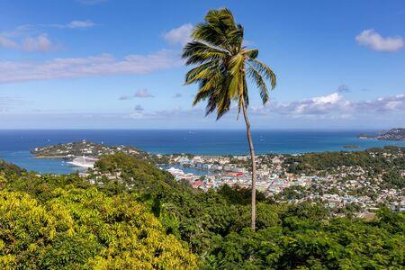 Castries, Santa Lucía, West Indies - Vista de la ciudad