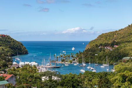 Saint Lucia, West Indies - Marigot bay Foto de archivo