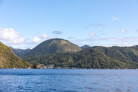 Soufriere, Saint Lucia, West Indies - View to the city from the sea