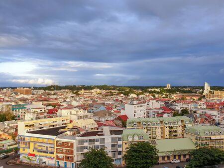 Pointe-à-Pitre, Guadeloupe, FWI - Vue sur la ville
