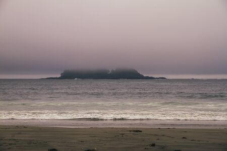 Island in front of Tofino beach - Vancouver Island, British Columbia, Canada