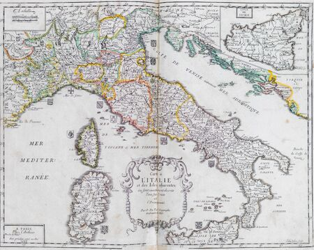 Old map of Italy - From an 1656 Atlas of Geography from P. du Val - France (Private collection)