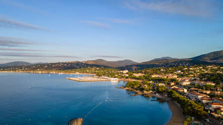 Aerial view of Les Issambres seafront in French Riviera (South of France)