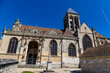 The church of Vetheuil, Val d'Oise, France Archivio Fotografico