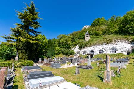 The troglodytic church of Haute-Isle, Val d'Oise, France
