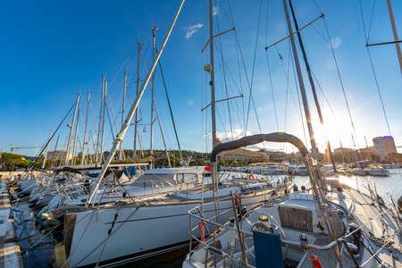 Sainte Maxime, Var, France - The port