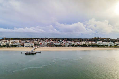 View of Arcachon and the Thiers Pier, Arcachon bay, Aquitaine, France