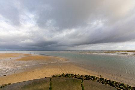 Jetty of Larros Harbor in Arcachon Bay - Gujan-Mestras, Aquitaine, France